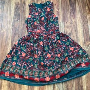 beautiful flower spring dress lined hardly worn